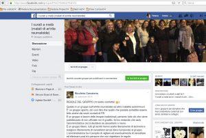 Community Facebook di pazienti affetti da artrite reumatoide