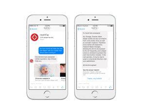 HealthTap è una chatbot pensata che consente di consultare uno dei 10mila medici statunitensi, per un quesito clinico (diagnosi o trattamento)